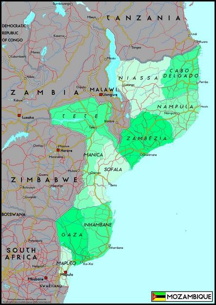 Mapa de Moçambique  |  Mozambique Map
